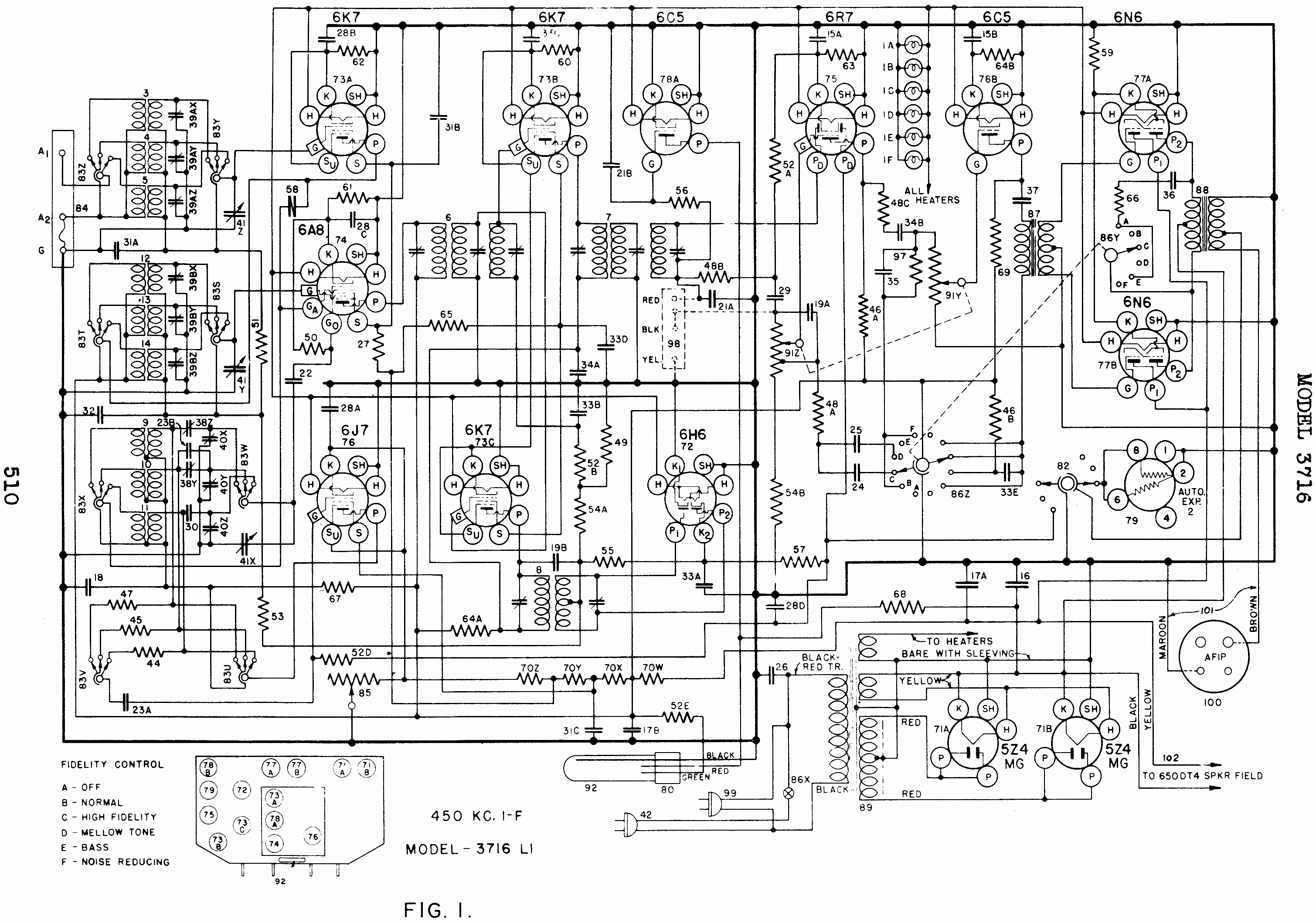 Here is the schematic of the Crosley WLW
