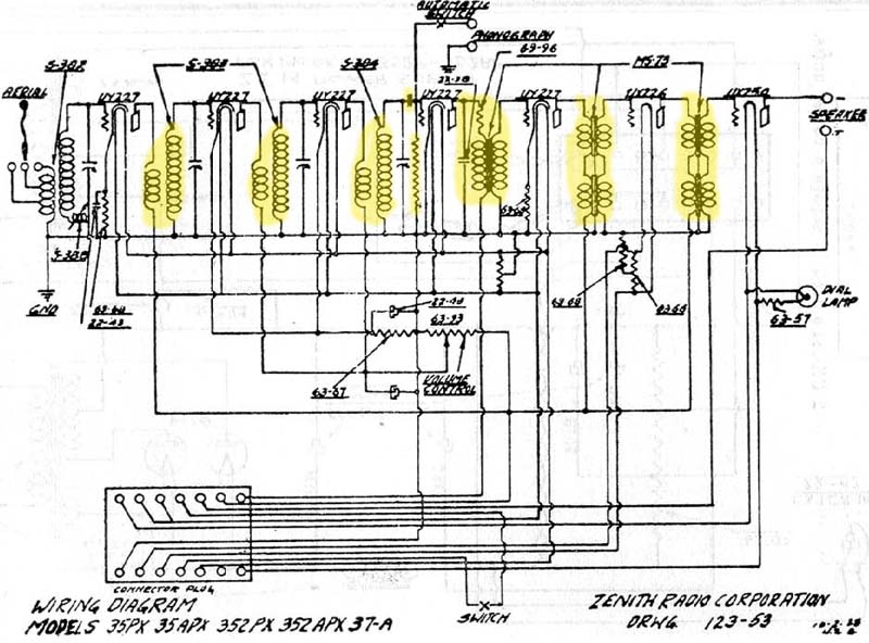 Zenith Stereo Wiring Trusted Diagrams. Zenith Stereo Wiring Circuit Connection Diagram \u2022 Console Information. Wiring. Zenith Tube Radio Schematics N6l6599 At Scoala.co